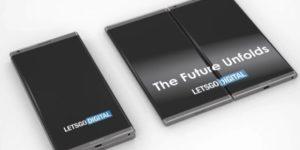 smartphone pliable samsung - ecrans interconnectés ou flexibles